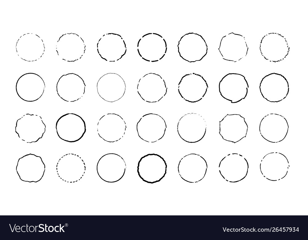 Circle set circles shaband curved lines vector
