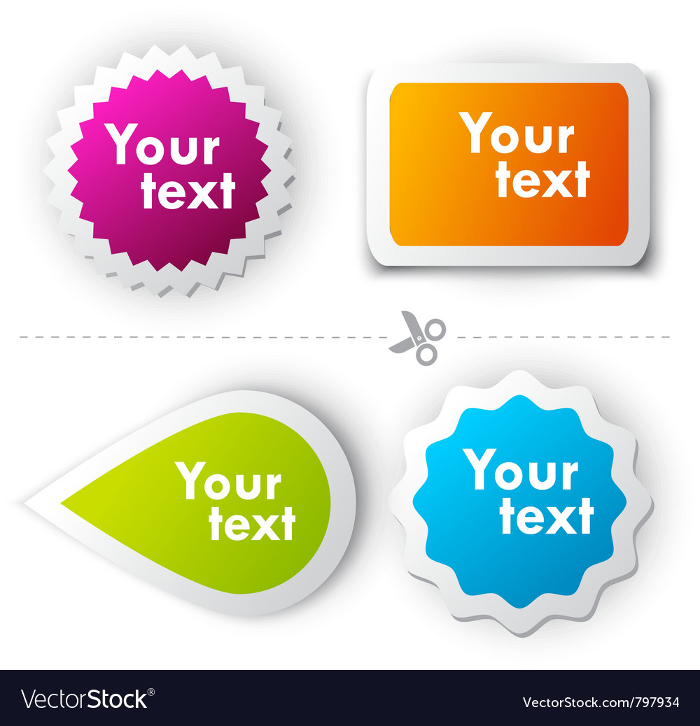 Colorful sticker for text