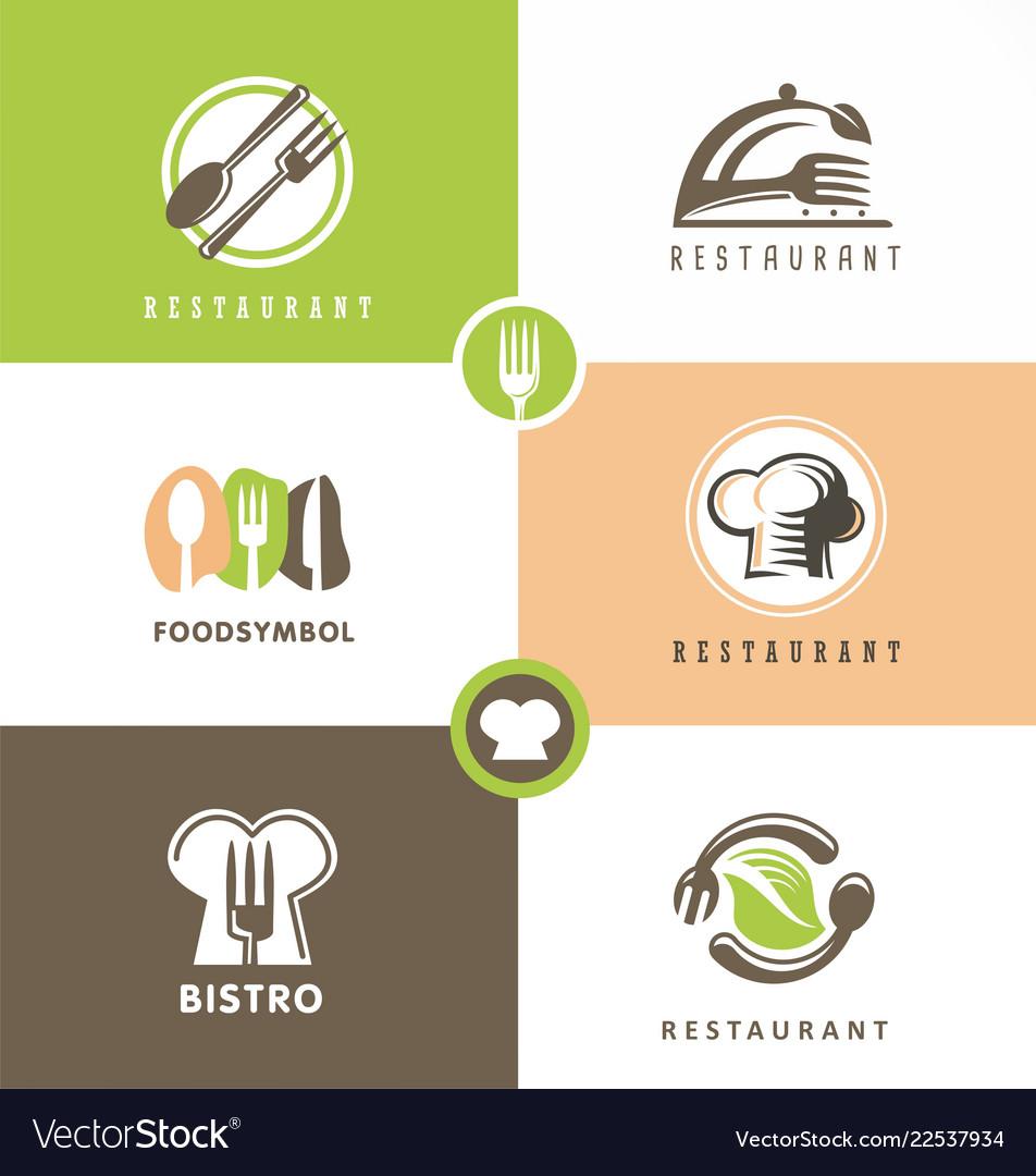 Creative design set for healthy food restaurant