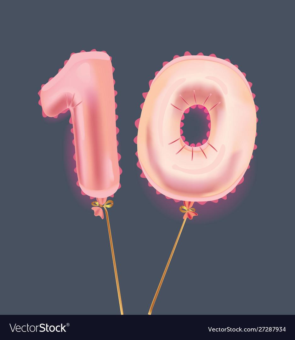Number ten balloons