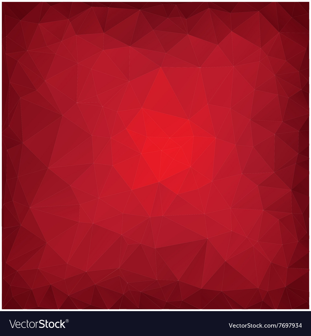 Red poly abstract