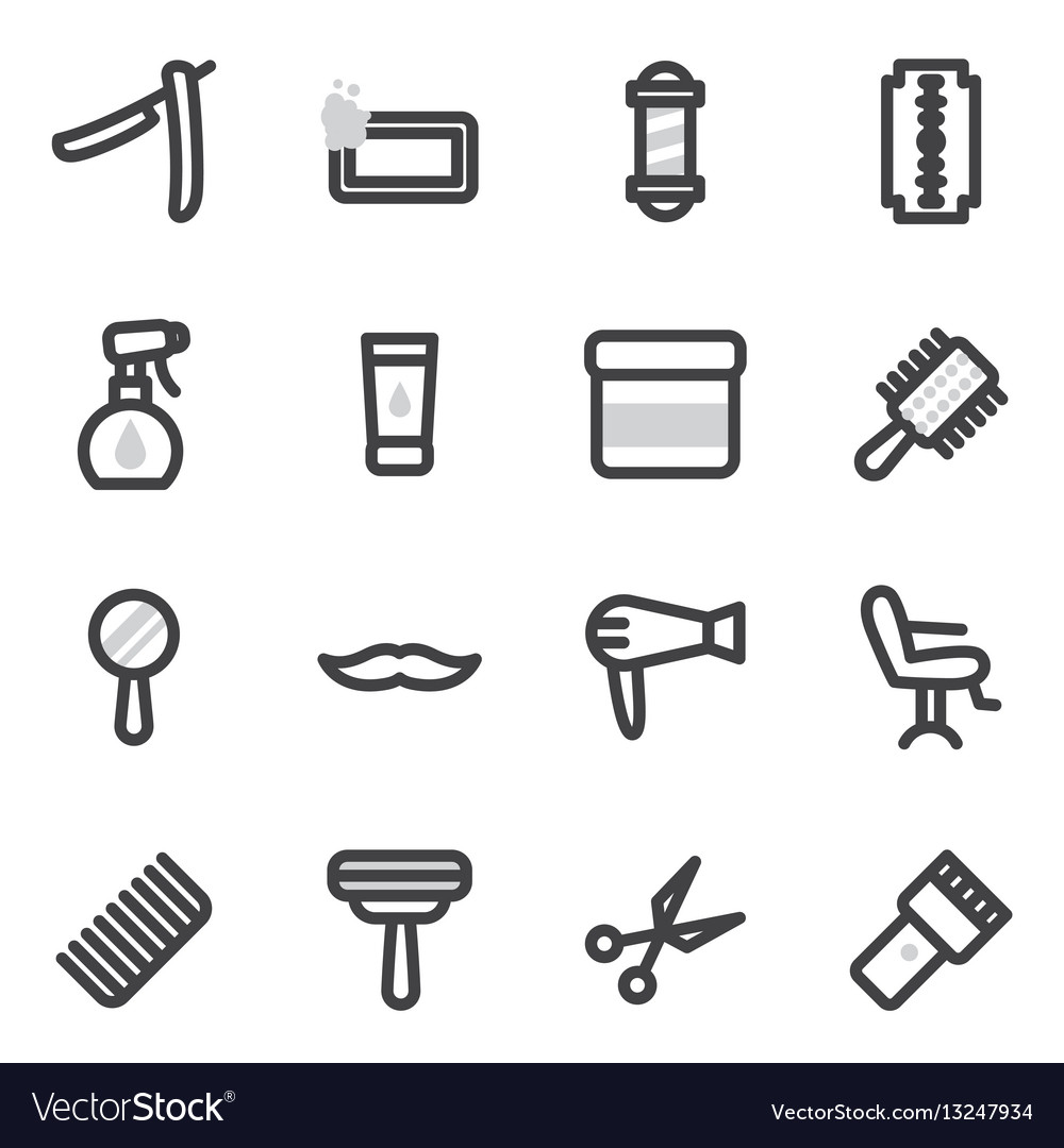 Set of icons on the theme of accessories