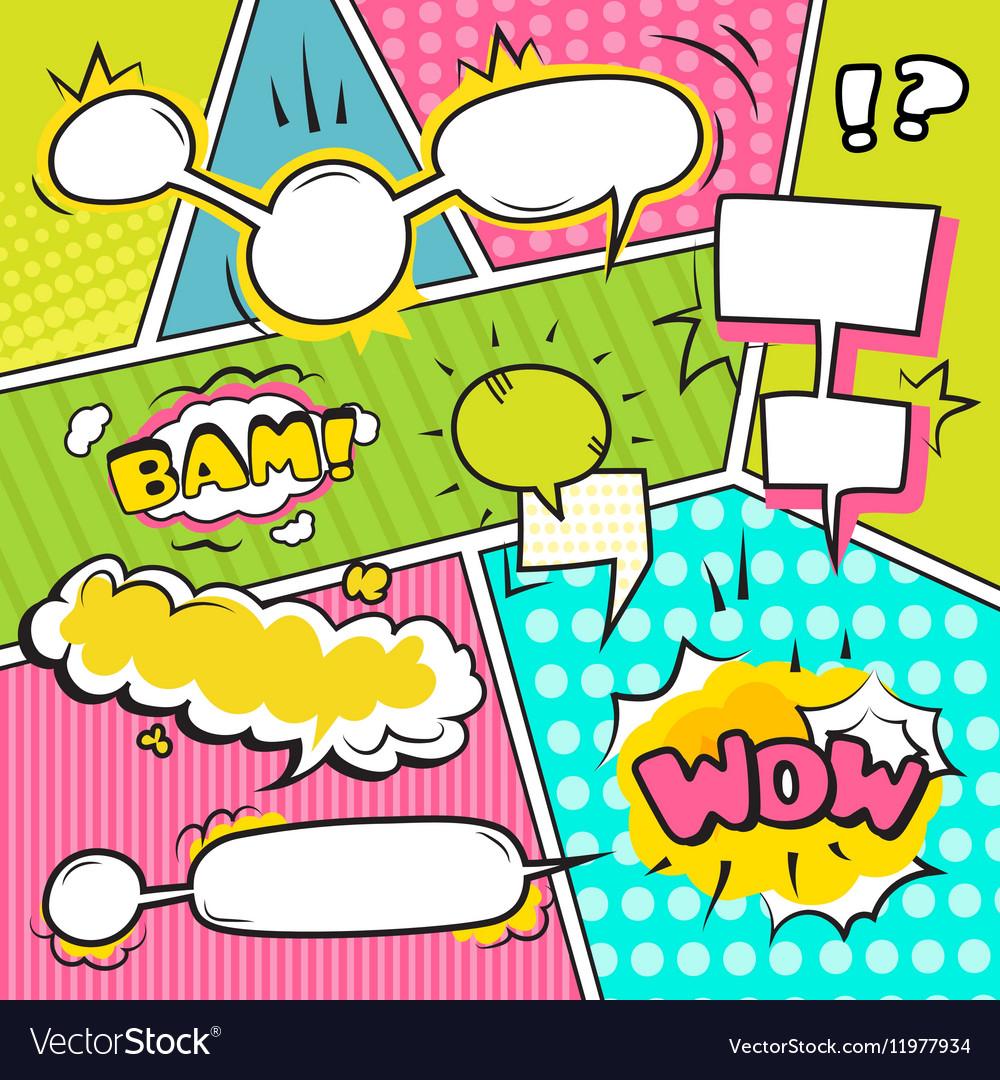 Speech Bubble Banners Set vector image
