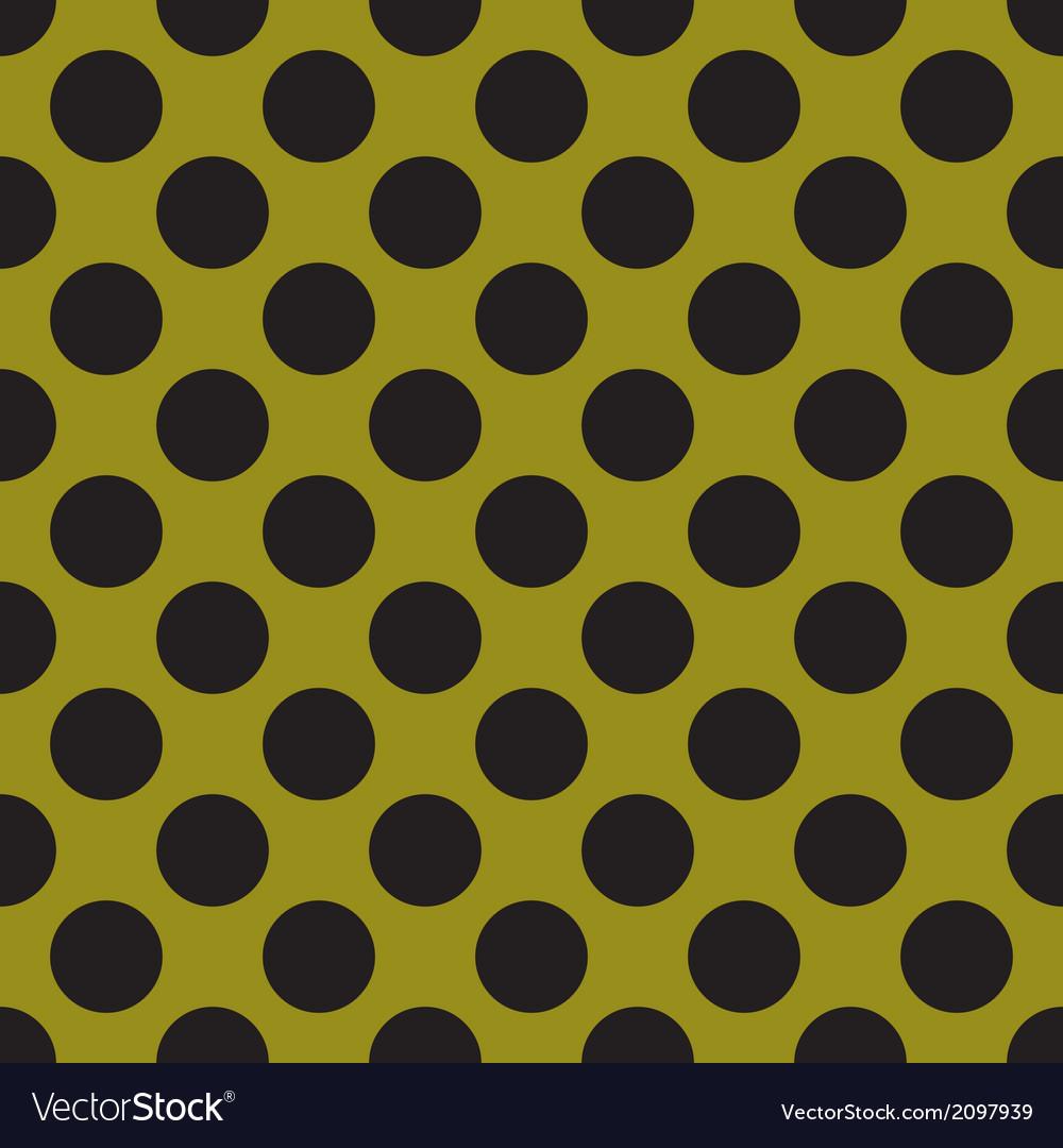 Black tile polka dots on green background
