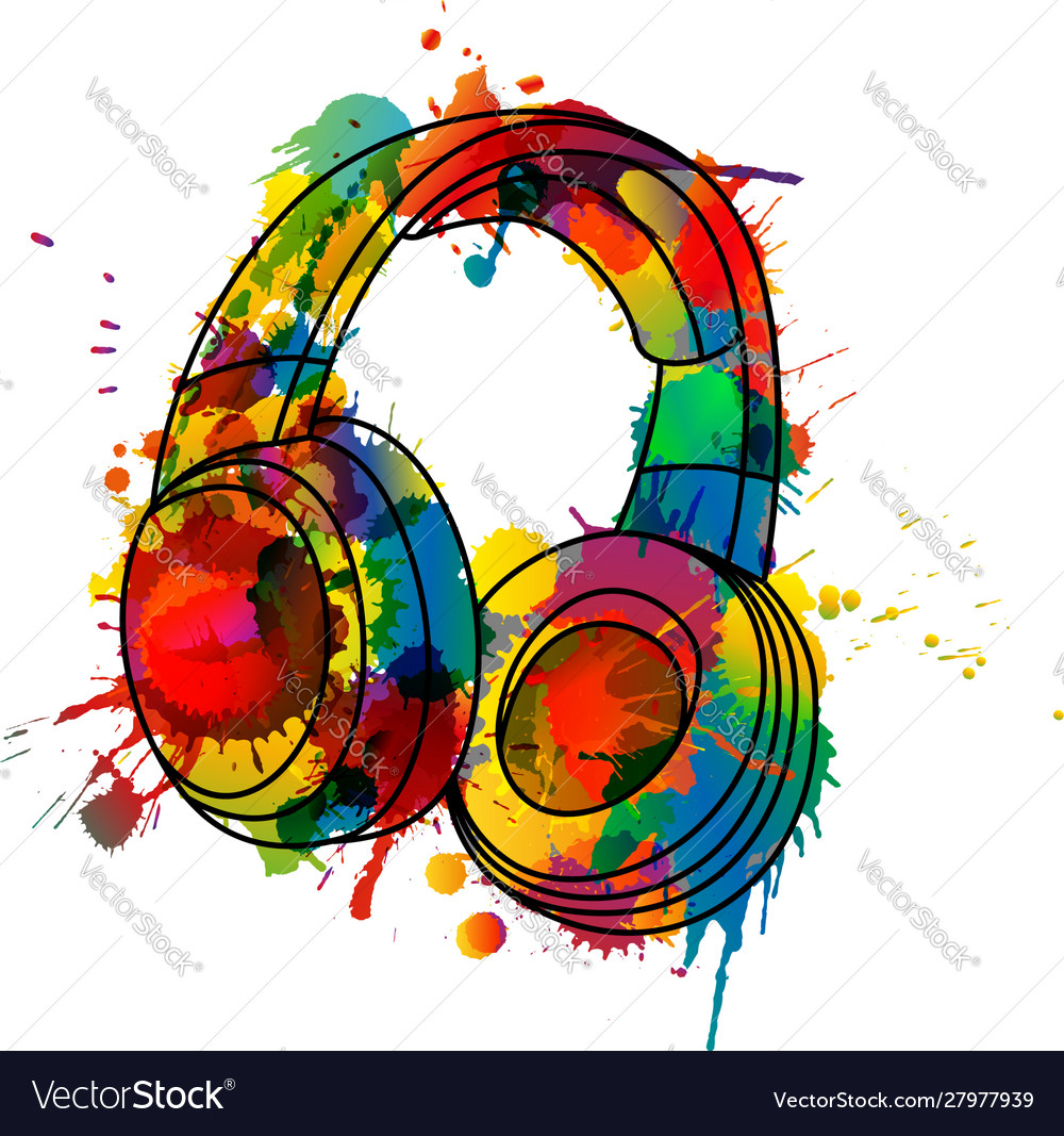 Headphones made colorful splashes