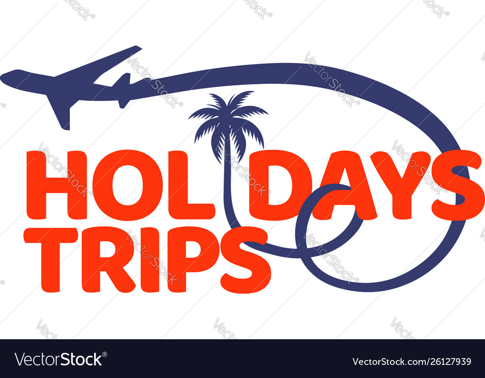 Holidays trips logo design symbol