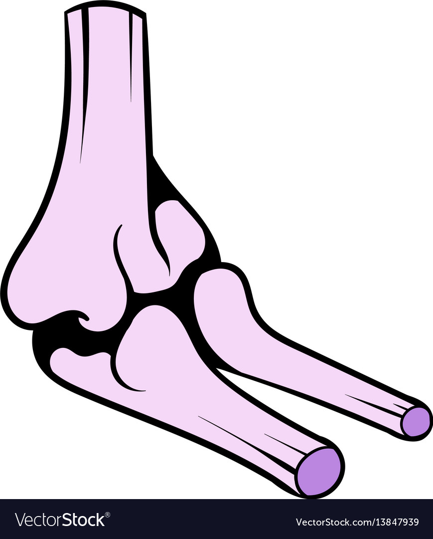 Human knee joint icon icon cartoon