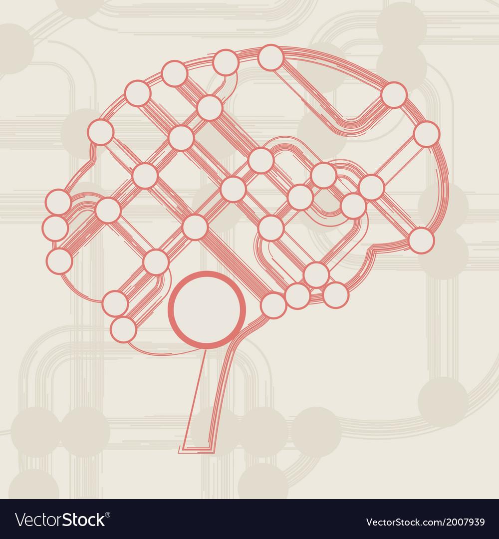 side vector circboard wiring diagram retro circuit board form of brain royalty free vector image  form of brain royalty free vector image
