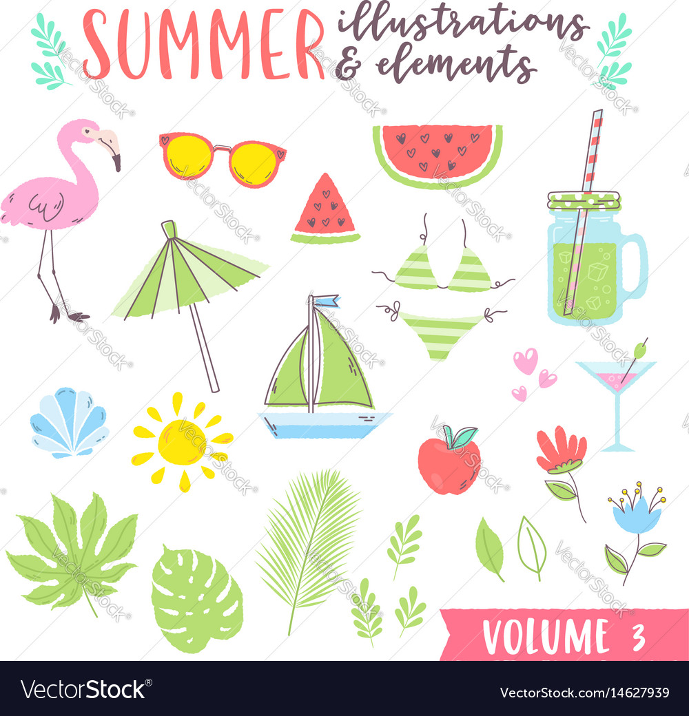 Summer design with fruits tropical and beach