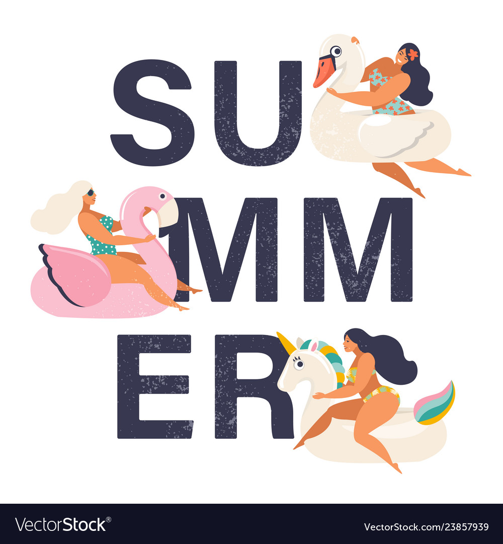 Summer time card with pin up girl