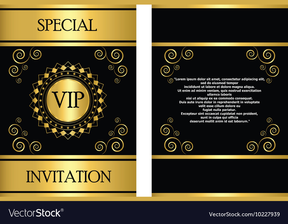 VIP Invitation Card Template Royalty Free Vector Image