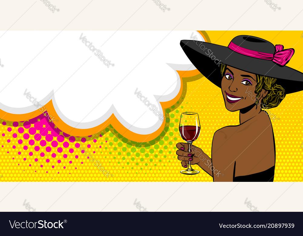 Woman pop art speech bubble text advertise vector image