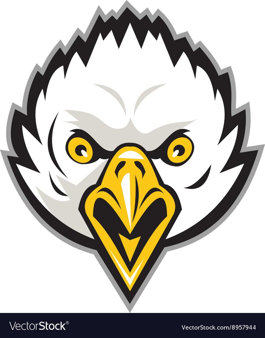 American bald eagle head screaming retro
