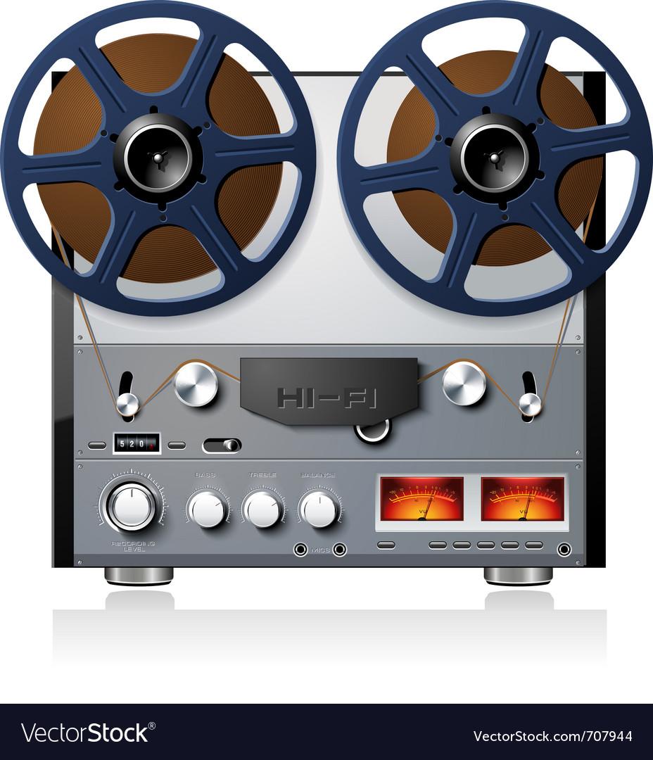 Analog stereo reel to reel tape deck