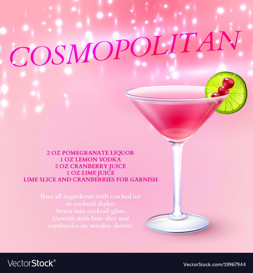 Vodka Cosmopolitan Recipe