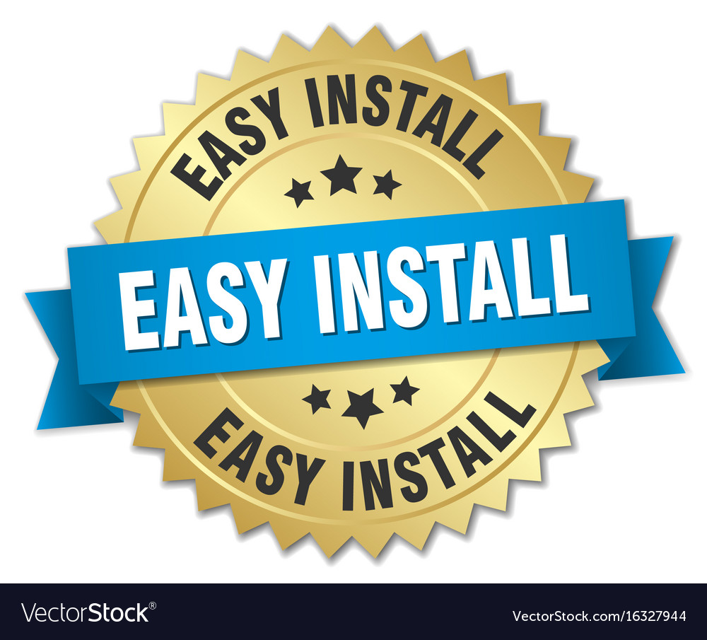 Easy install round isolated gold badge vector image