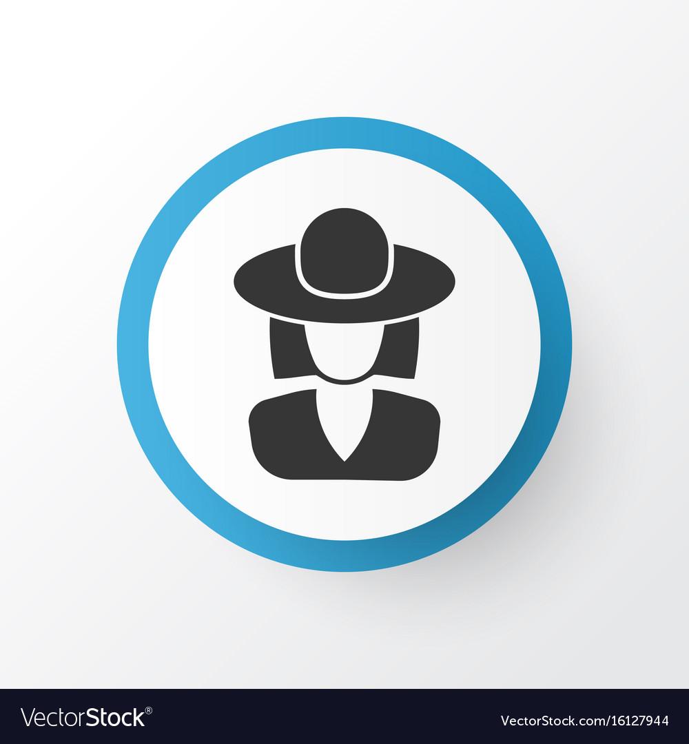 Elegant headgear icon symbol premium quality