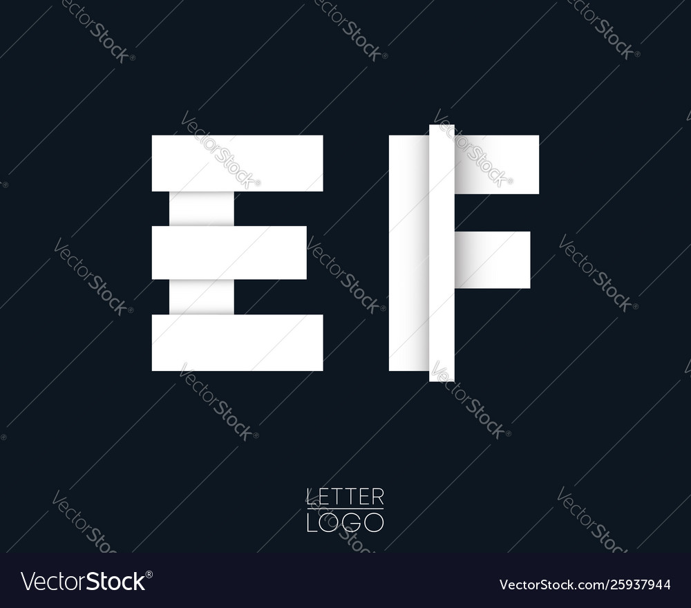 Letter e and f template logo design