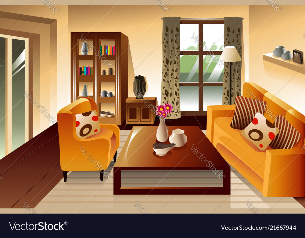 modern living room space royalty free vector image