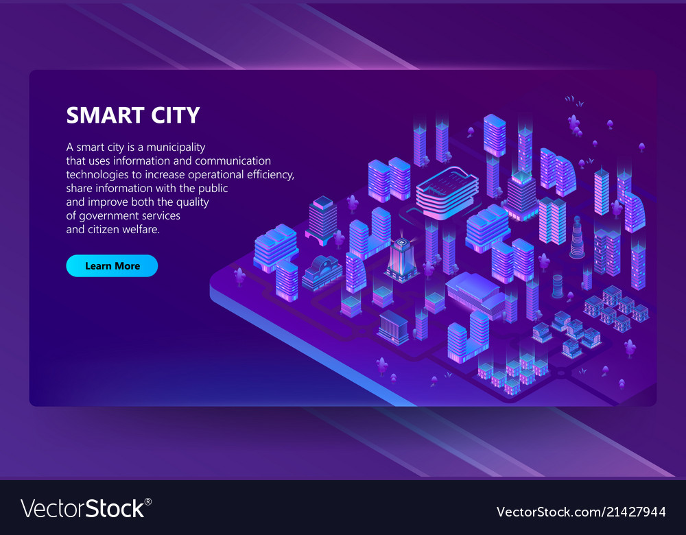 Site with 3d isometric ultraviolet