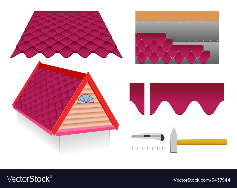 Soft tile roof