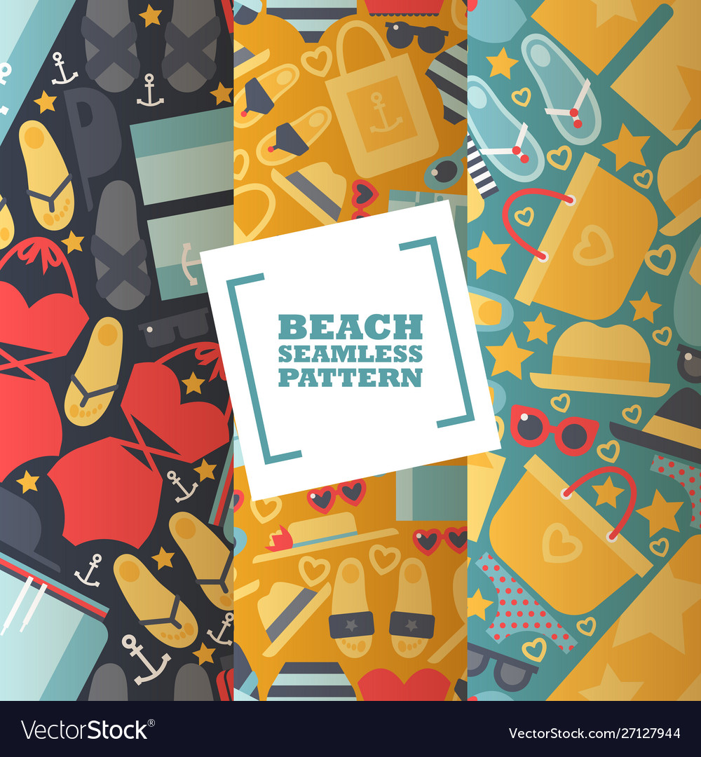 Summer vacation seamless pattern