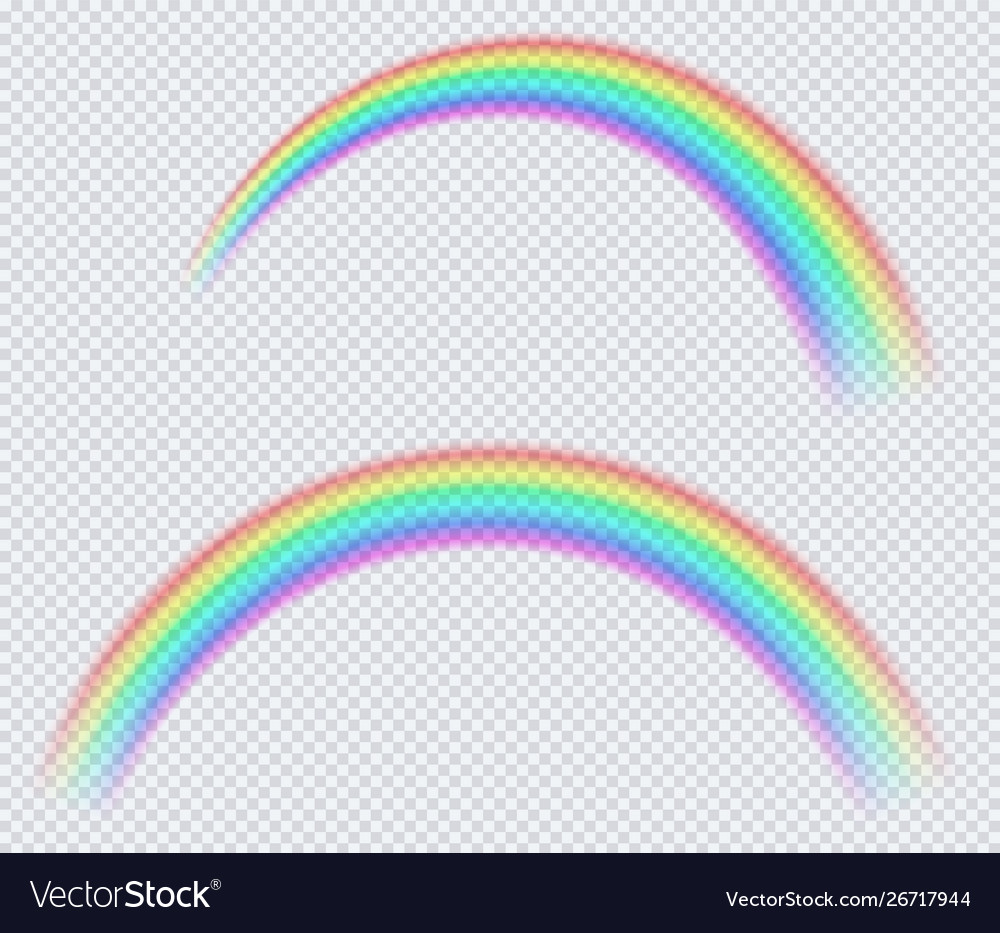 Transparent colored rainbow arc a circle