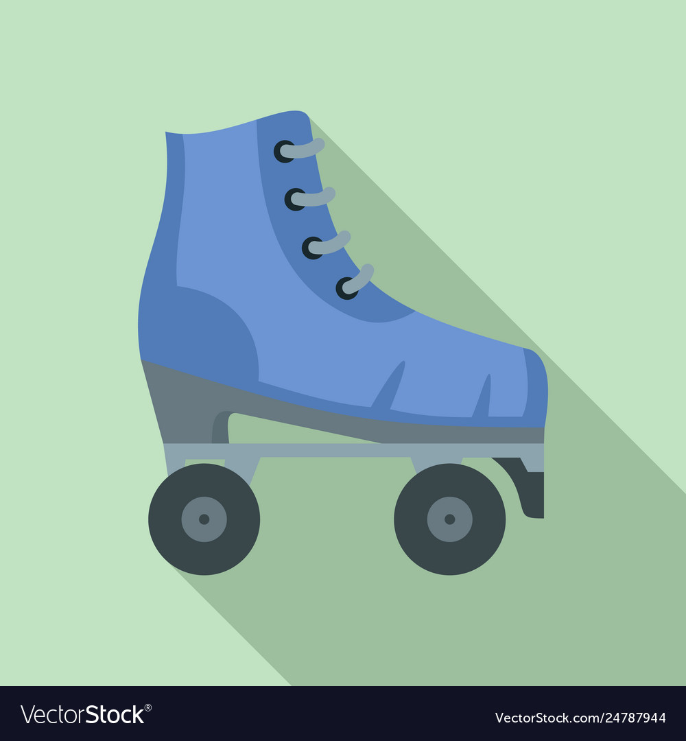 Vintage Roller Skates Icon Flat Style Royalty Free Vector