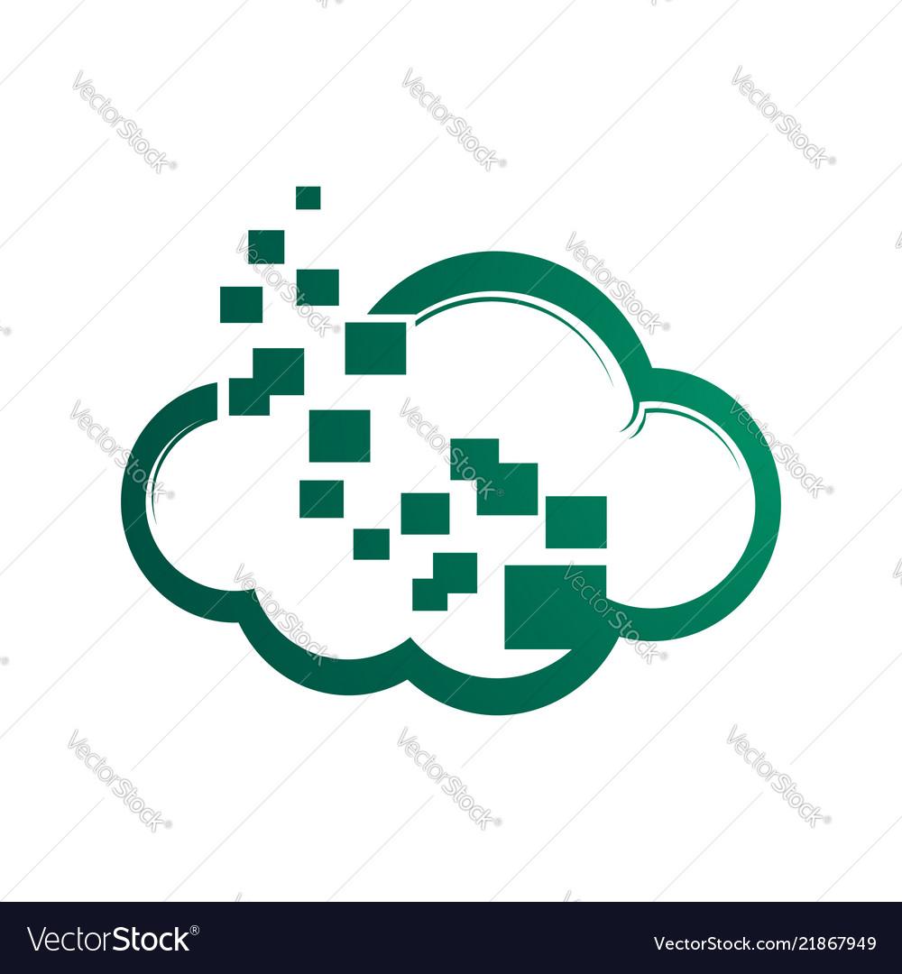 A minimalistic icon logo representing stylized