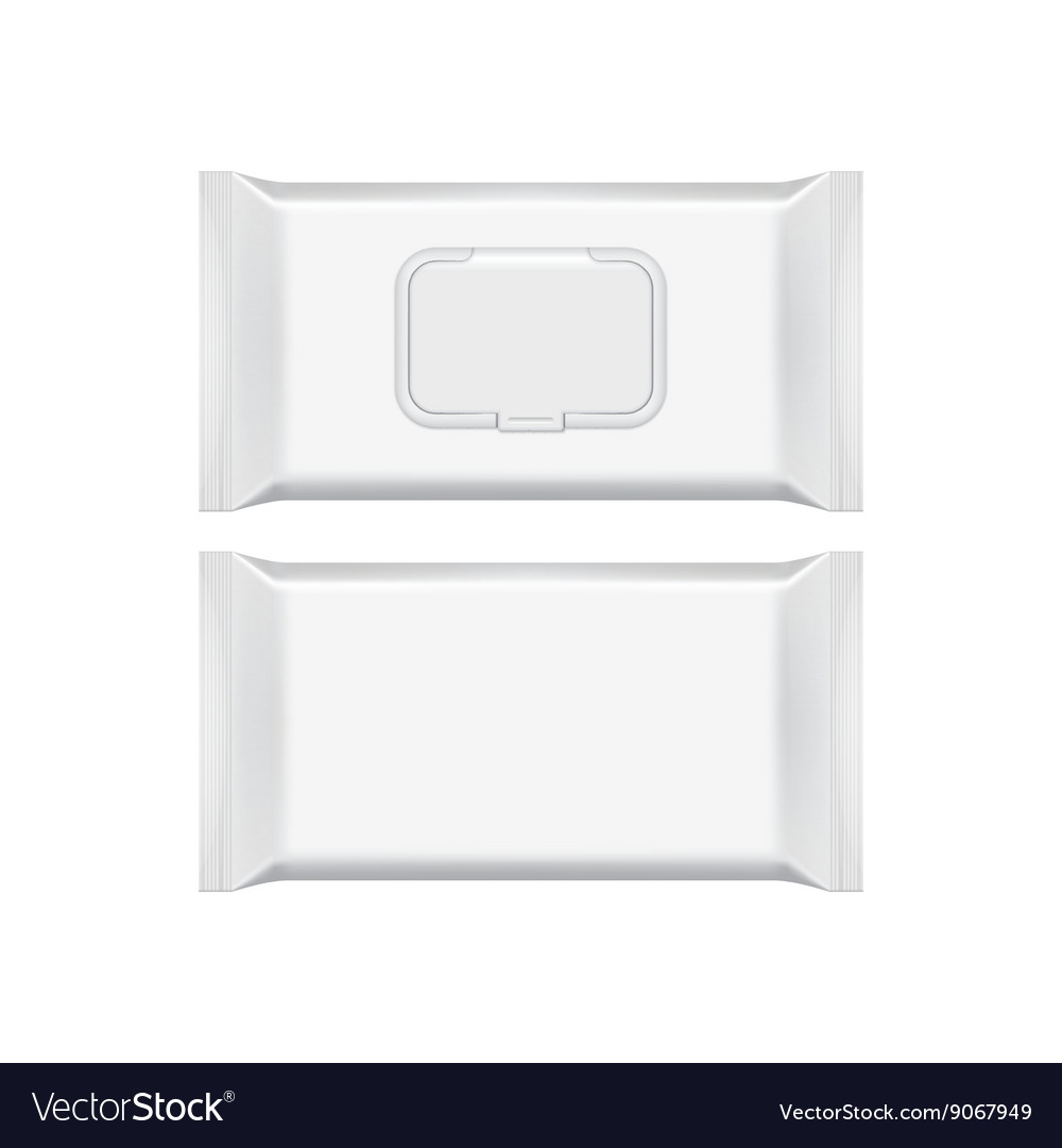 blank packaging template mockup isolated on white vector image