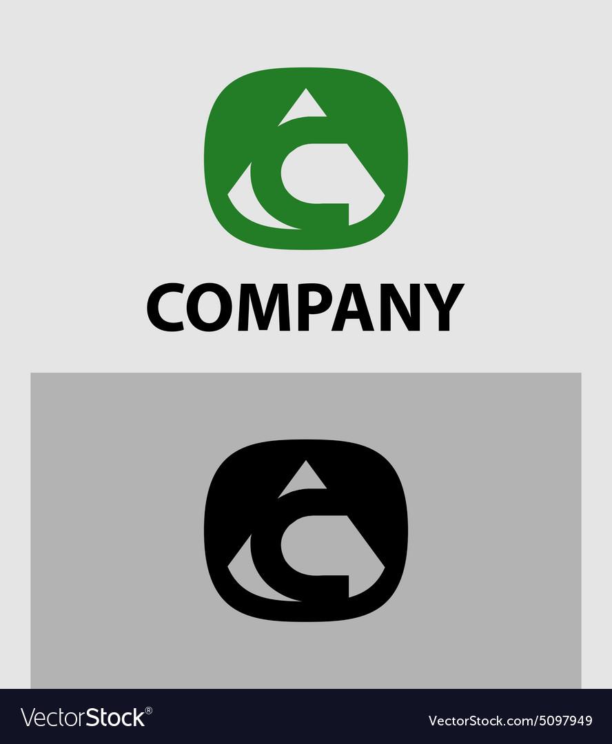 c letter logo icon design template element vector image