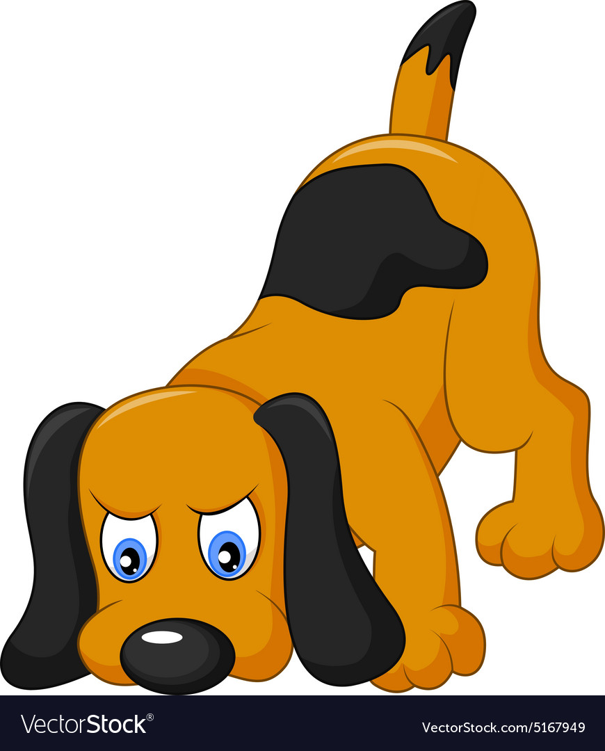 Cartoon dog sniffing