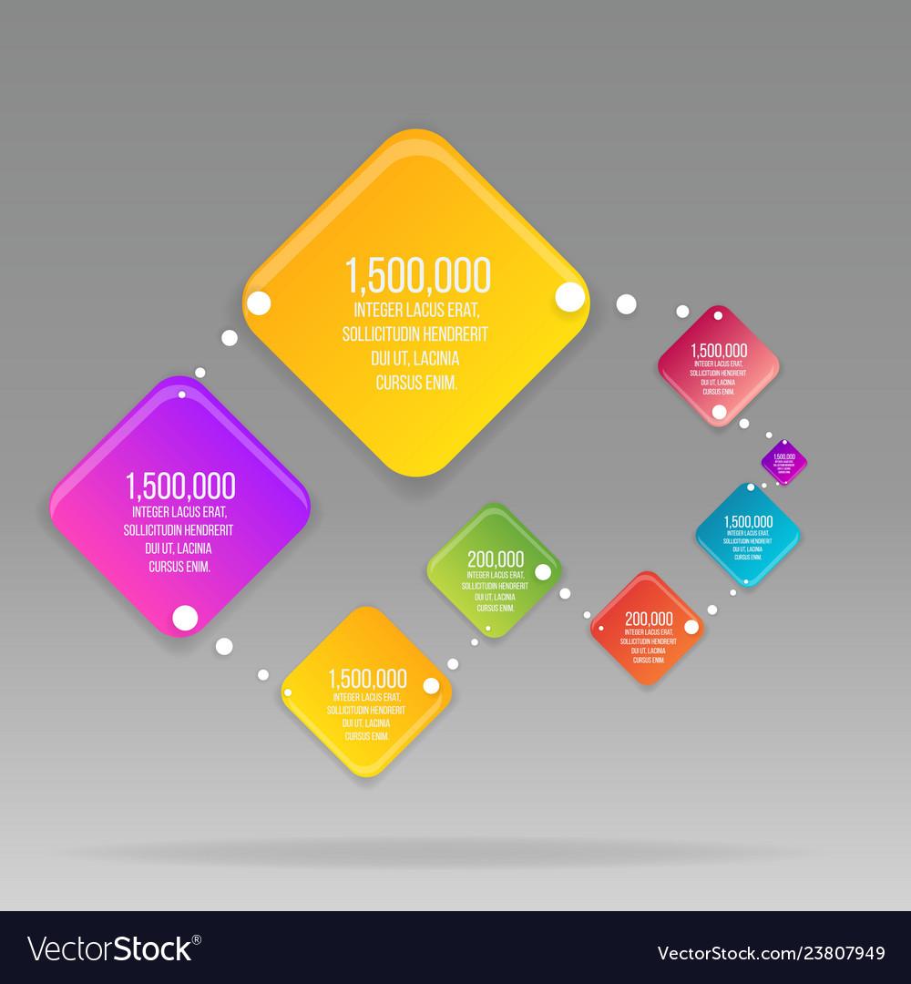 Flat rhombus colorful info-graphic