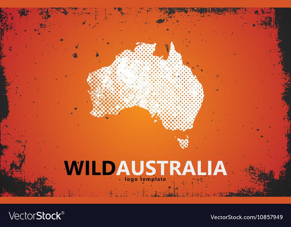 Grunge Australia logo Australia logo design Wild