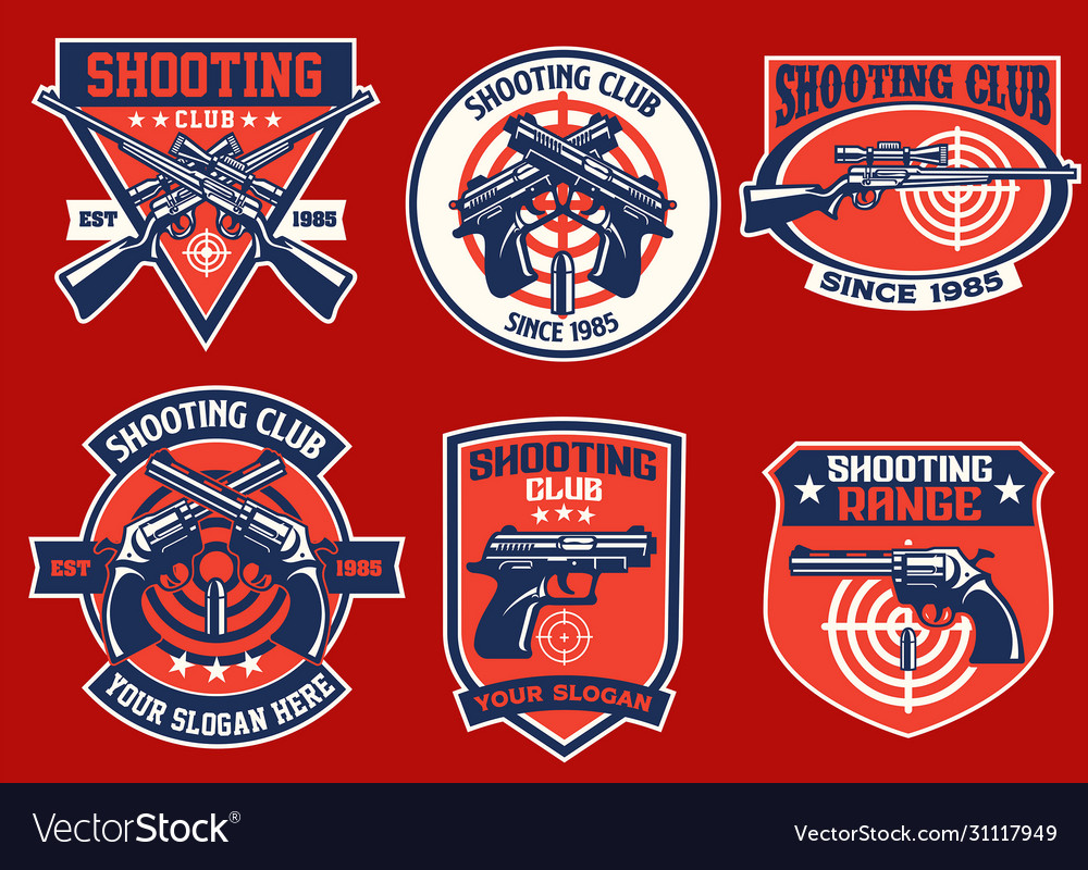 Set bundle shooting club badge collection
