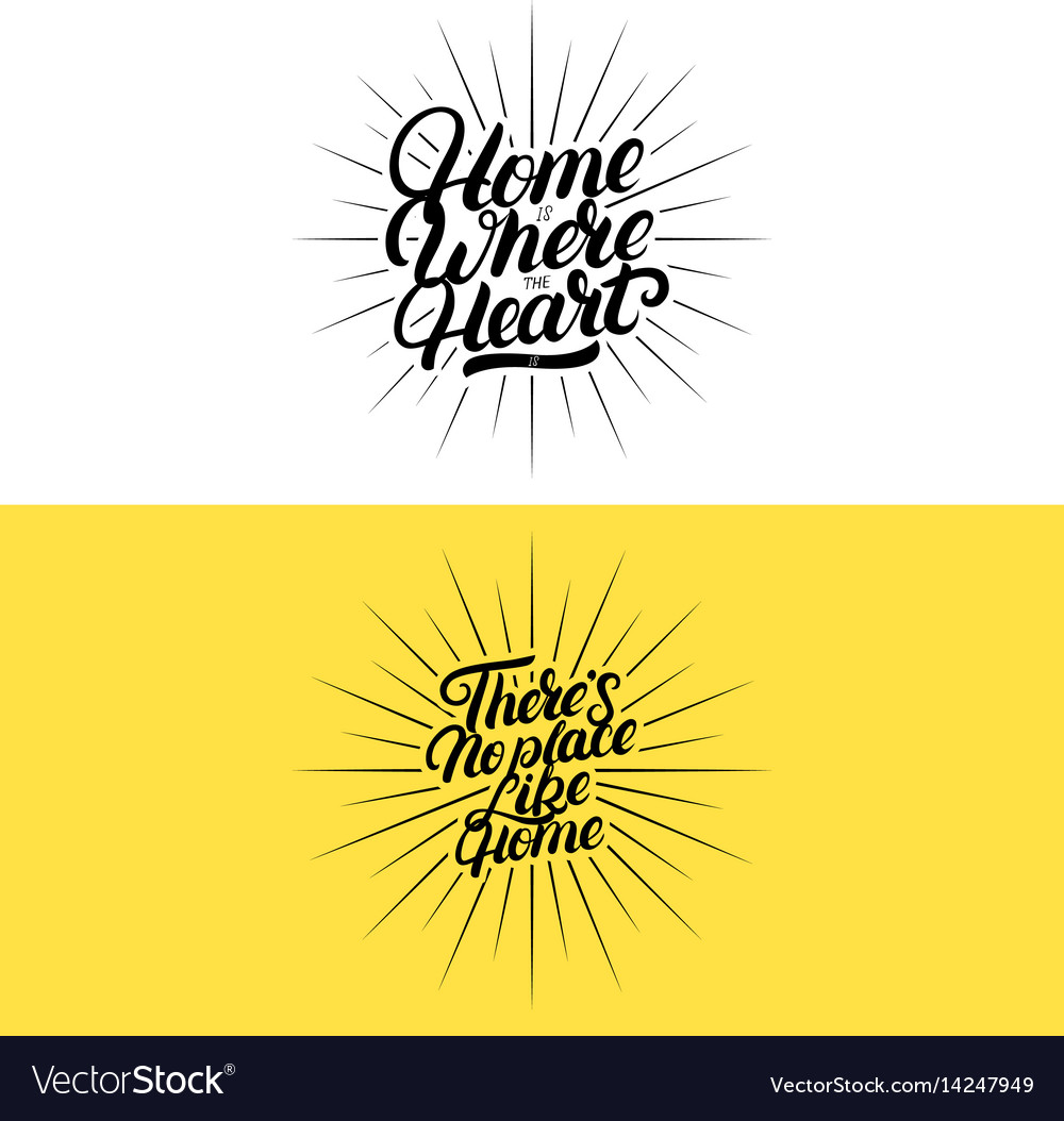 Set of hand written lettering quotes for home