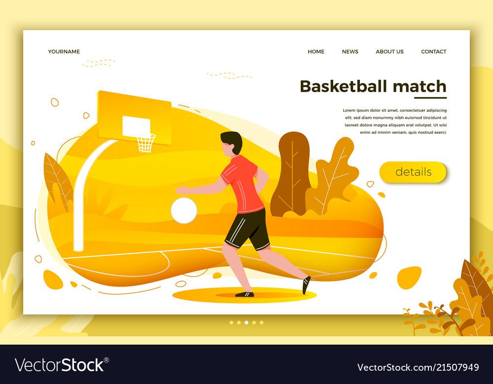Sporty man playing basketball