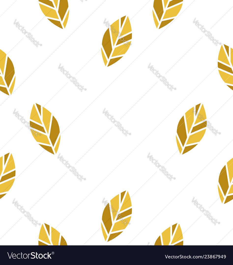 Yellow leaf seamless pattern