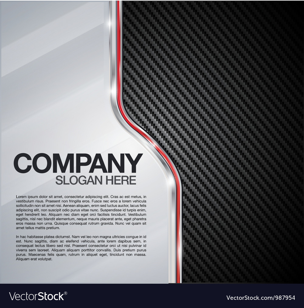 Automotive Chrome Carbon Fiber background vector image