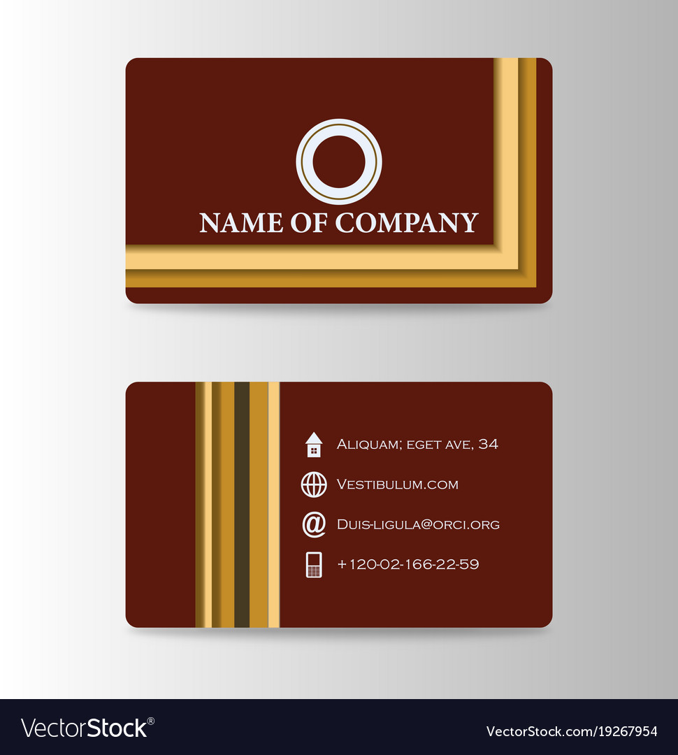 Business card background design with logo vector image colourmoves
