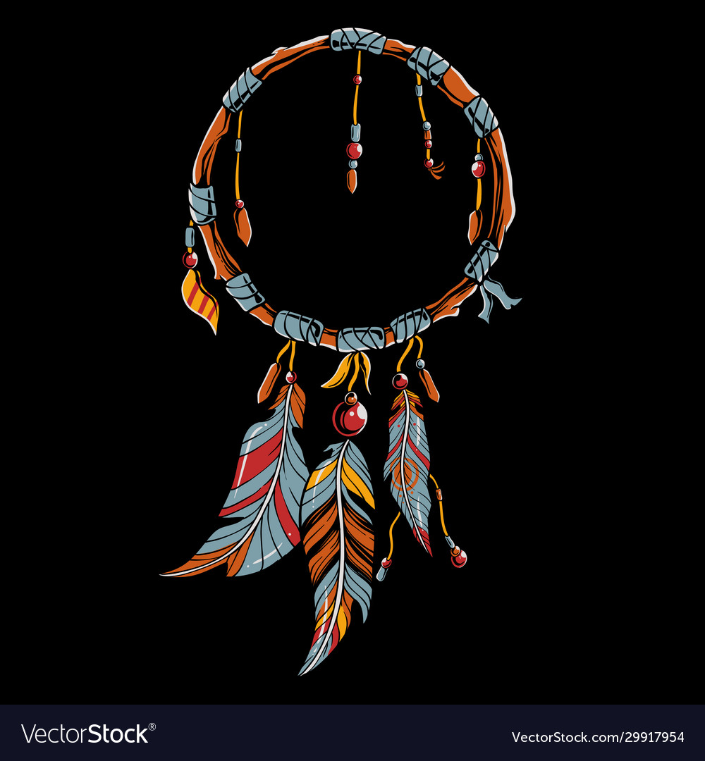 - Colorful Dream Catcher Art Royalty Free Vector Image