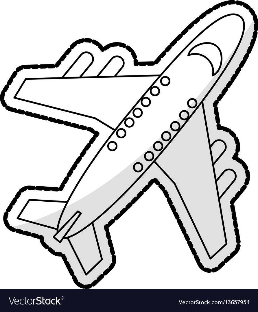 Commercial airplane icon image