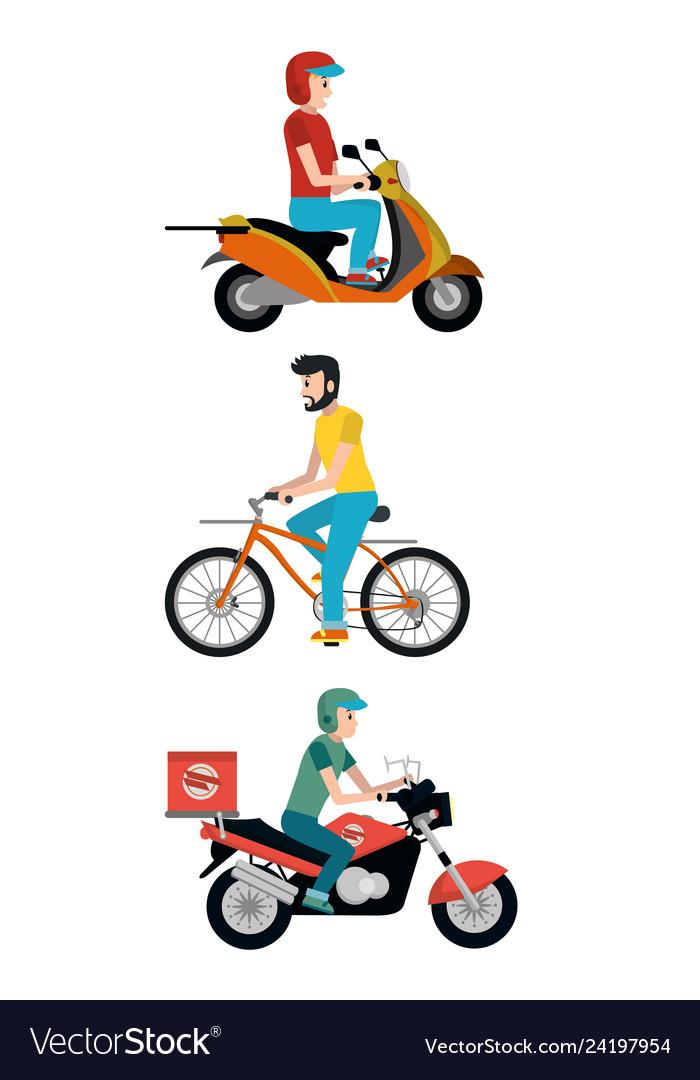 Delivery service cartoon