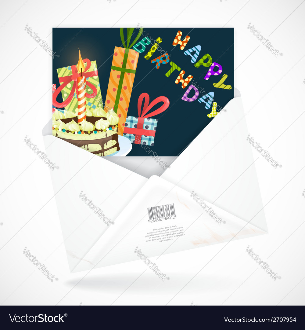 Postal Envelopes With Greeting Card Royalty Free Vector