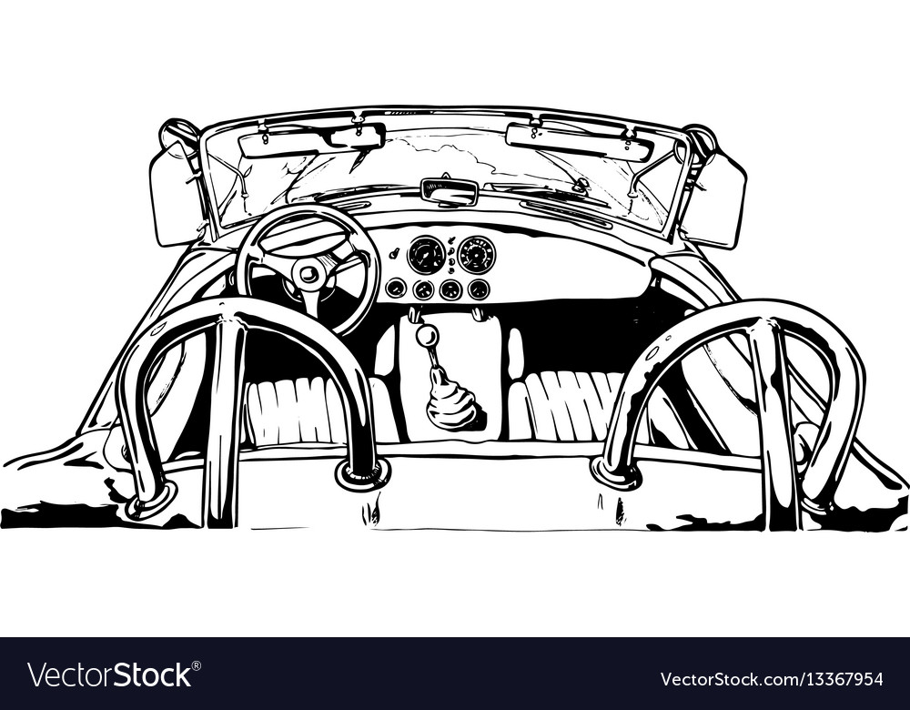 Sport car interior vector image