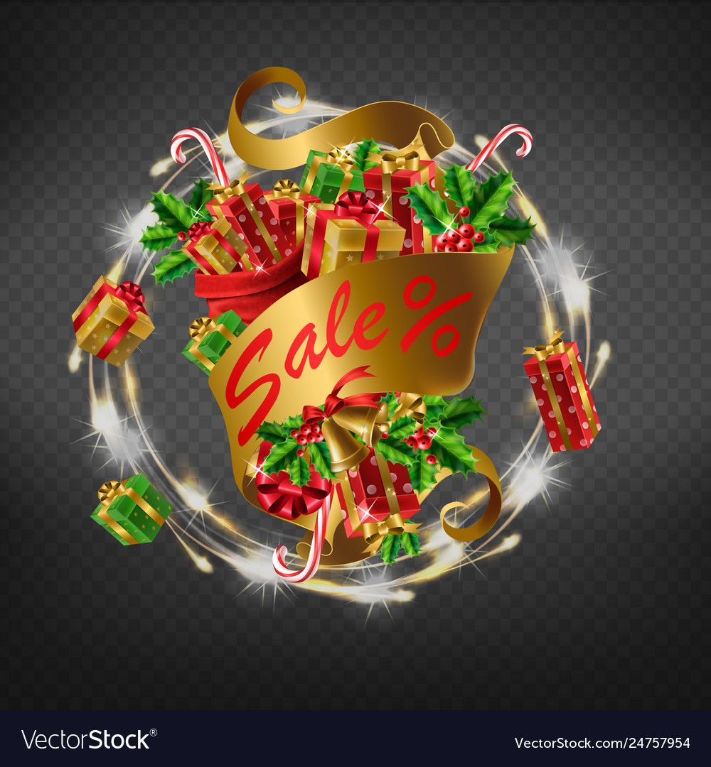 Winter holidays sale 3d realistic icon