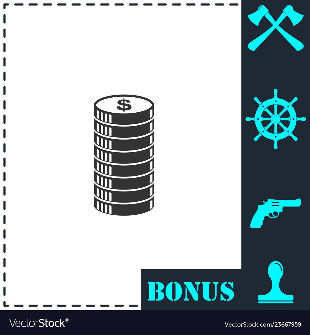 Cent icon icon flat
