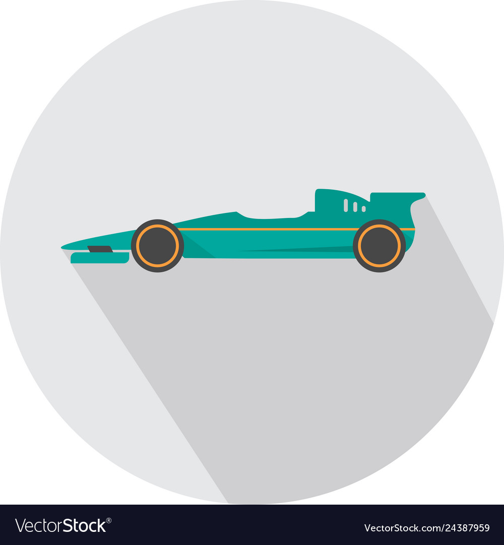 F1 Racing Icon Set Great Flat Icons Royalty Free Vector