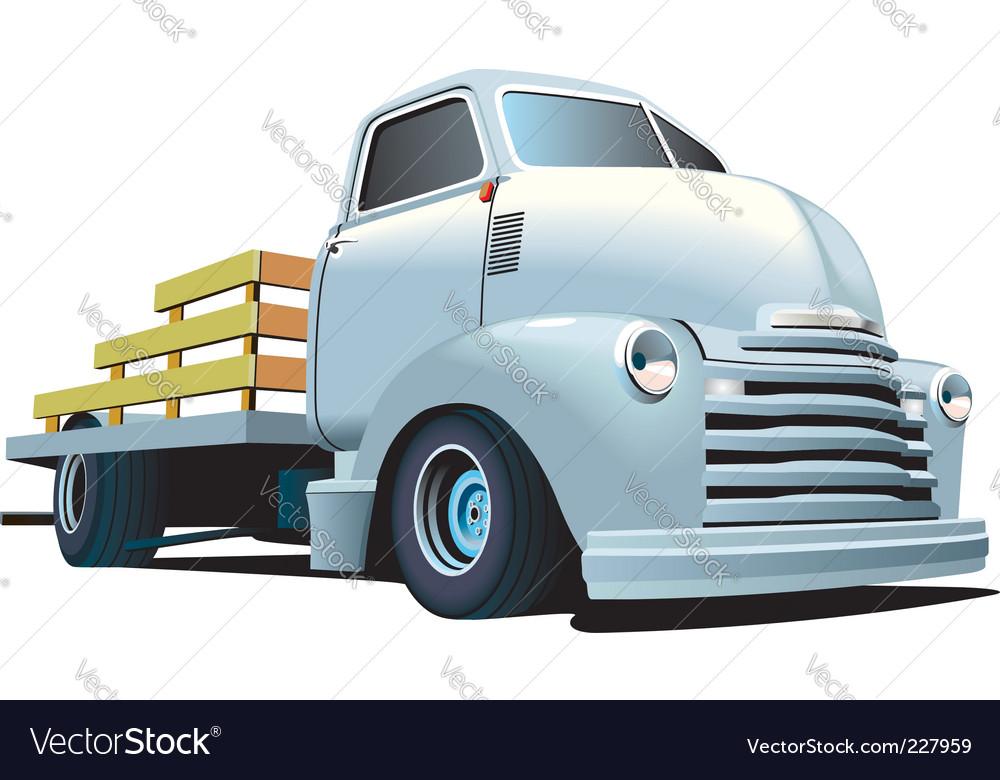 Hot rod truck Royalty Free Vector Image - VectorStock