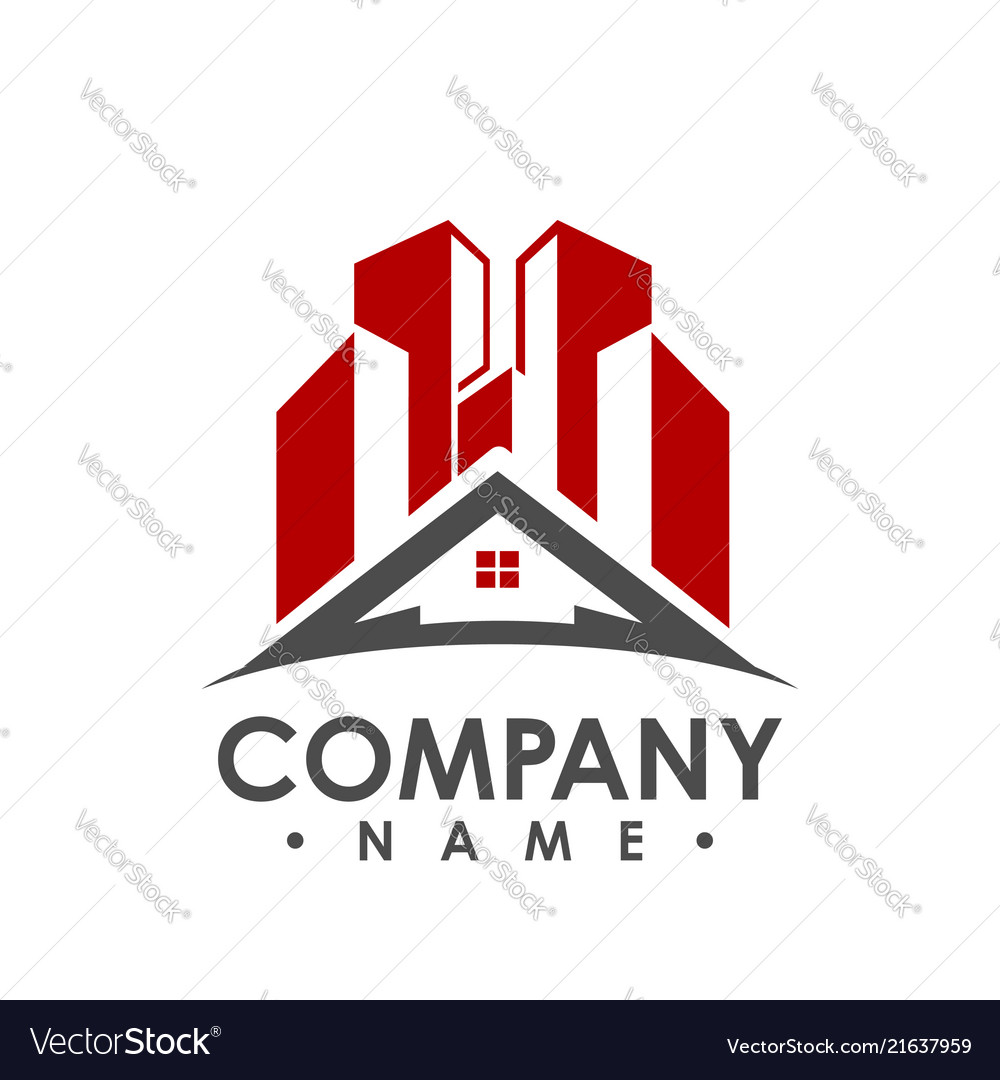 House logo real estate logo cottage farm